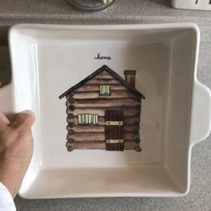 Rae Dunn Home log cabin casserole dish NWT